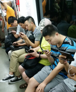 In der U-Bahn in Peking (Foto: Jannis Radeleff)